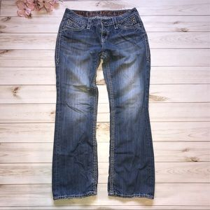Rock Revival Elania Thick Stitch Jeans Bling 30